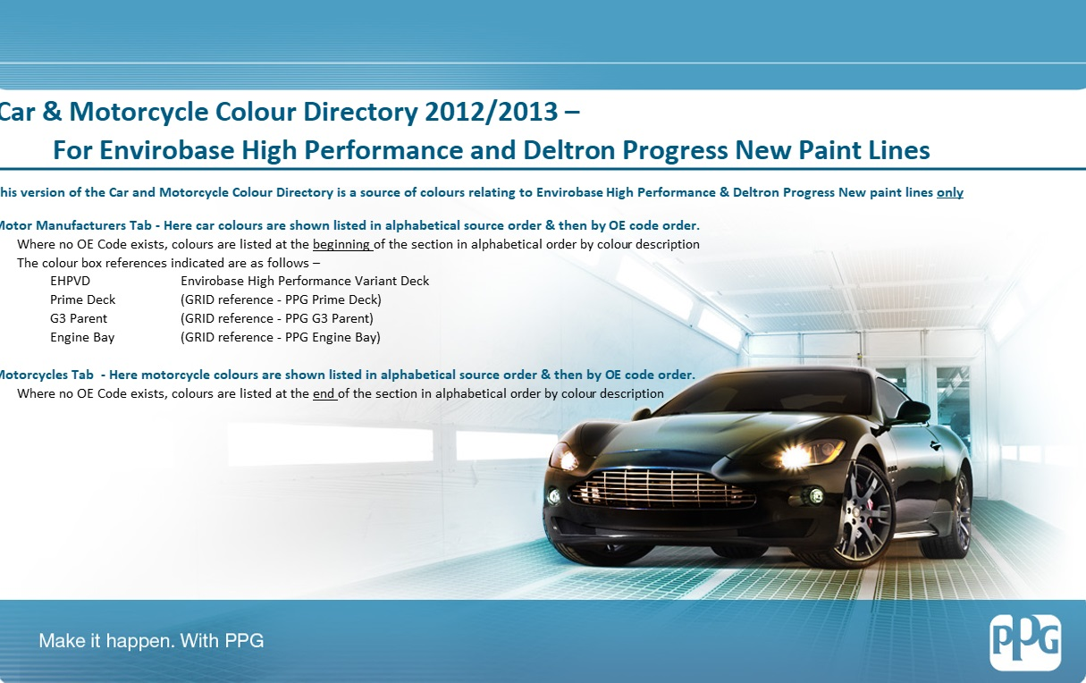 Colour Code Identification | PPG Global