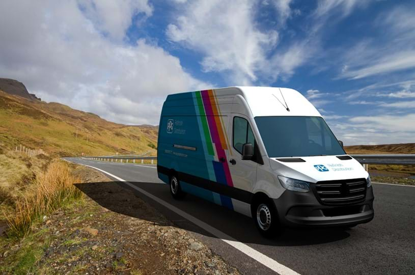 Artist's impression of a PPG Refinish Distribution van